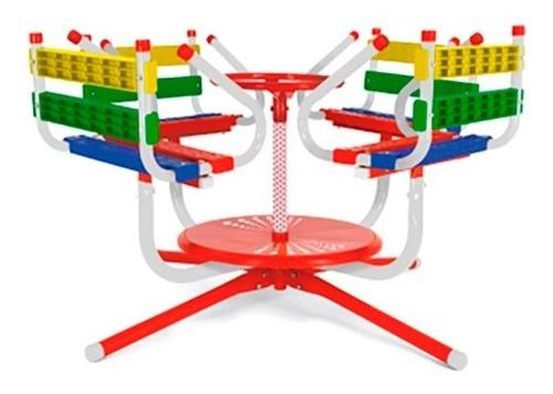 calesita infantil jeico resistente 4 asientos