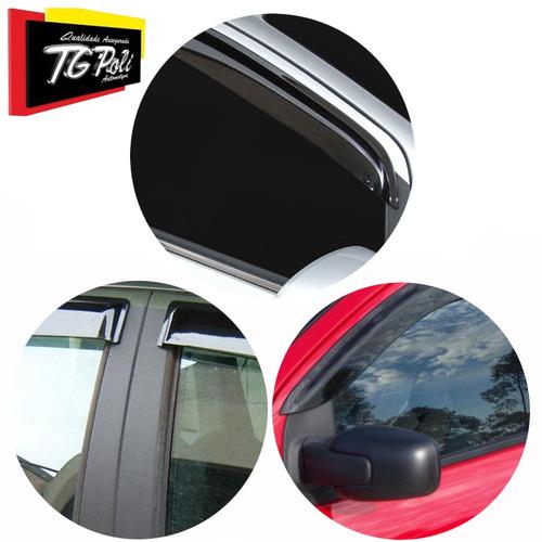 calha de chuva defletor sandero 2007/14 tg poli carro