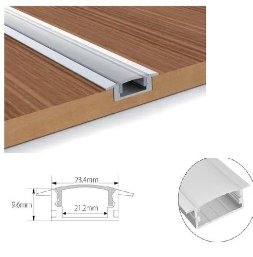 calha perfil yw de aluminio p/ barra de led capa leitosa