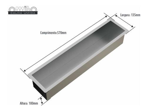 calha seca embutida porta temperos e utensílios