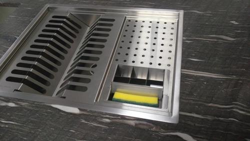 calha úmida lateral quadratta escorredor 50x40 porta esponja