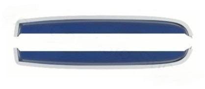 calhas de chuva p/ fusca na cor azul ( acrilico )
