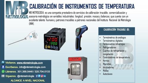 calibración instrumentos de temperatura