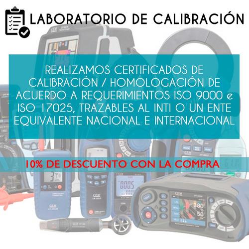 calibración y homologación trazable telurimetro