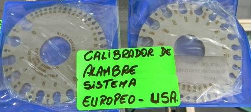 calibrador de alambre europero o americano