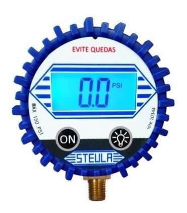 calibrador de pneus profissional digital 150 lbs dig1 steula