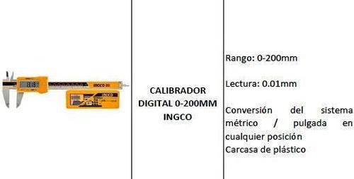 calibrador digital 0-200mm ingco