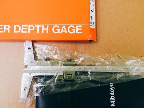 calibre de profundidad marca mitutoyo 150mm cod. 527-101