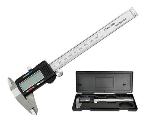 calibre digital 150 mm acero profesional - electroimporta -