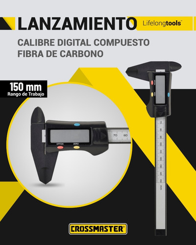 calibre digital crossmaster de 150 mm fibra de carbono nuevo