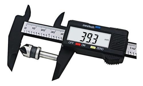 calibre digital fibra de carbono visor numeros grandes