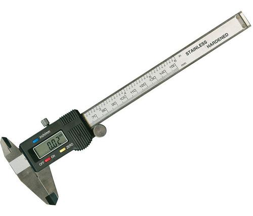 calibre digital profesional hasta 150 mm en acero con caja