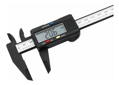 calibre fibra de carbono digital display numeros grandes