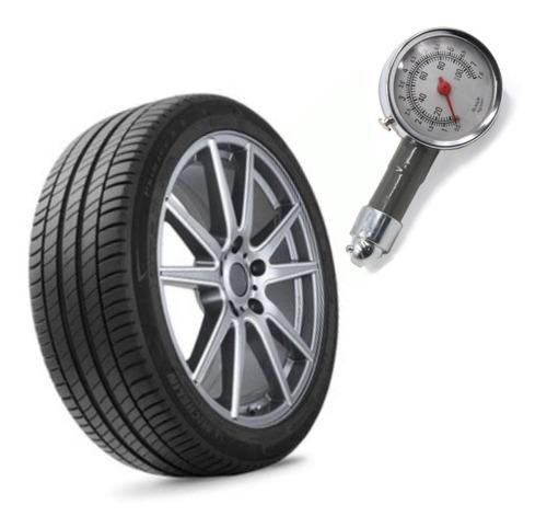 calibre presión de neumático metálico con reloj