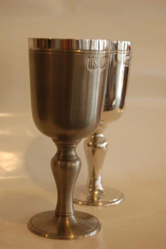 cálice de vinho 260ml - taça - estanho john somers