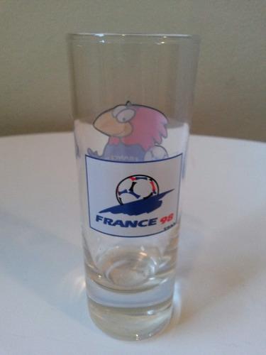 calice para licor ou tequila - mascote / copa da frança 1998