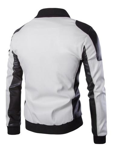 calidad chaqueta hombre cuero sintetico diseño ropa