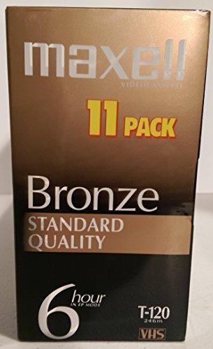 calidad estándar maxell bronze t120 paquete 11