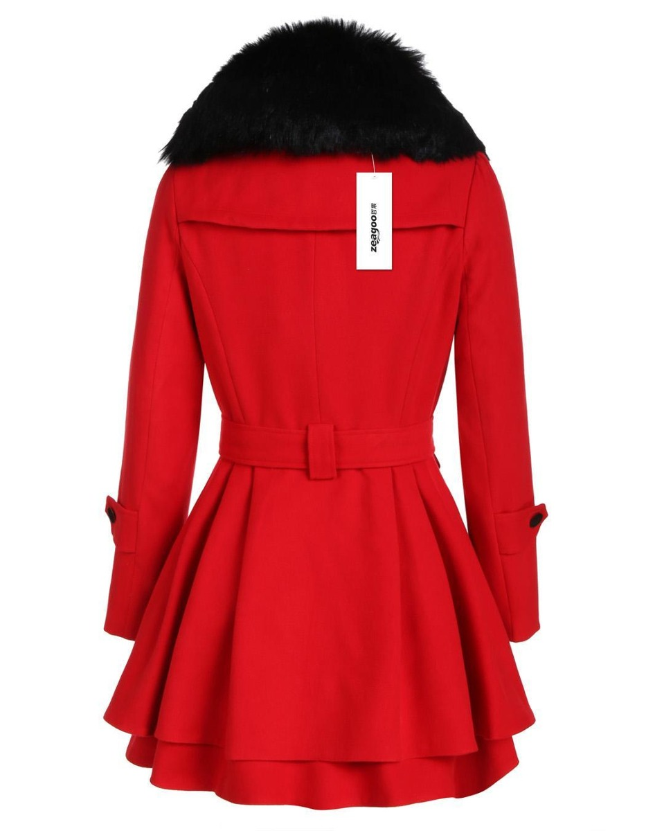 29bc4bc8620a7 cálido abrigo para mujer diseño acinturado roosevelt. Cargando zoom.