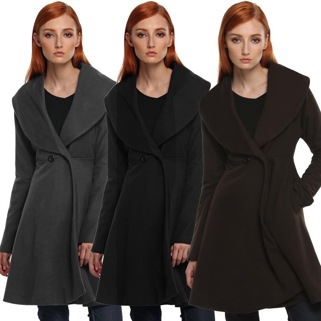 49c03225986d0 Cálido Abrigo Para Mujer Diseño Acinturado Roosevelt -   802.48 en ...