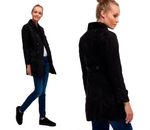 cálido abrigo para mujer diseño acinturado roosevelt origina