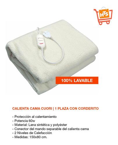calienta cama 1 plaza con corderito lavable 2 niveles cuori