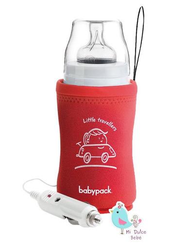 calienta mamadera para auto 12 volt babypack rojo