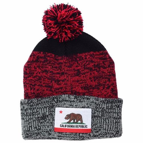 california republic '47 brand static beanie gorro lana pom