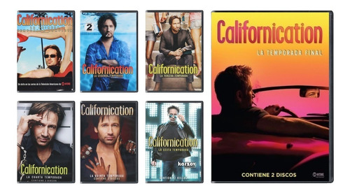 californication paquete temporadas  1 2 3 4 5 6 7 dvd