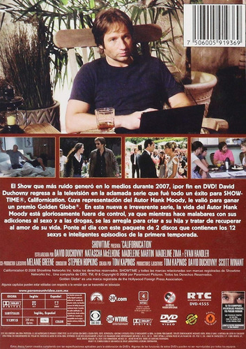 californication primera temporada 1 uno dvd