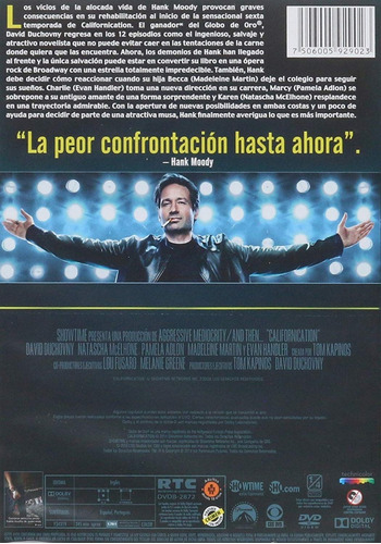 californication sexta temporada 6 seis dvd