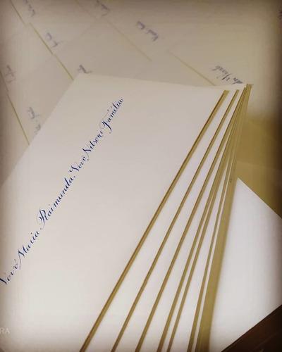 caligrafia em convites de casamento e festas