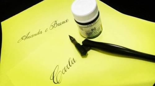 caligrafia para convites, diplomas e eventos - caligrafa