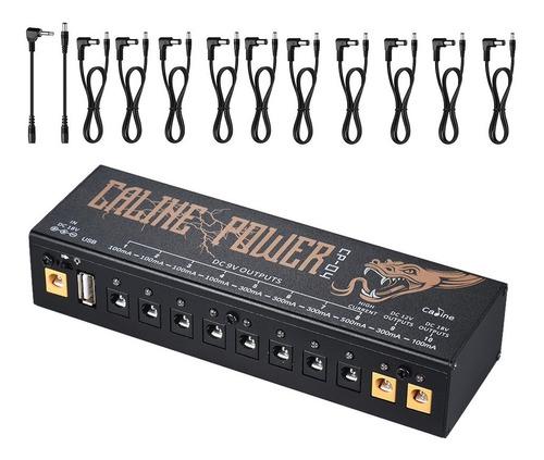 caline cp-04 tamanho compacto efeito de guitarra power