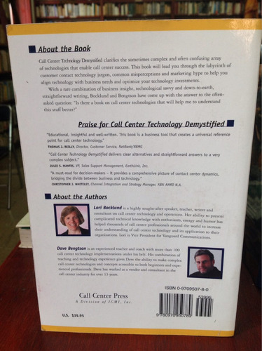 call center technology demystified by lori bocklud & dave b.
