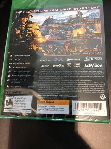 call duty black ops 4 xbox one como nuevo disco físico