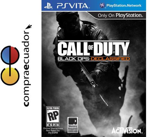 call duty black ops declassified psvita ps vita juego fisico