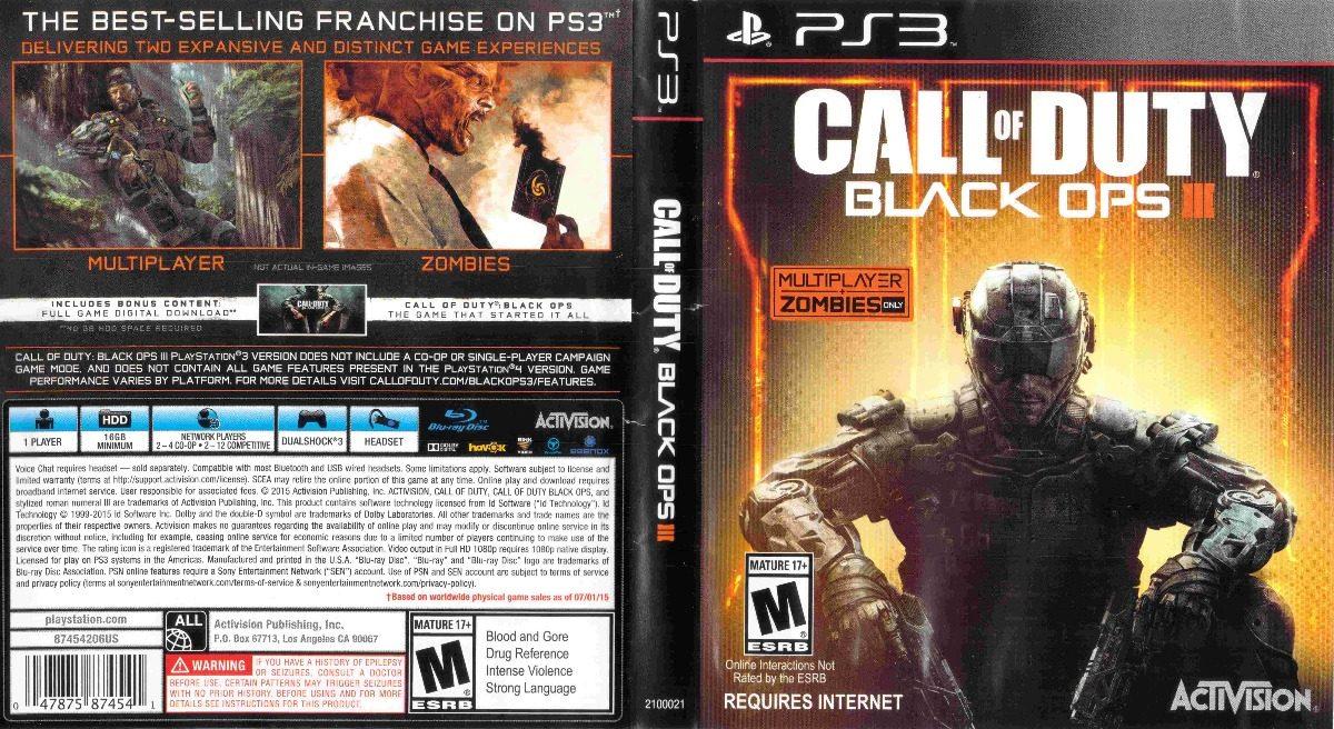 Call Of Duty Black Ops 3 Ps3 Fisico Original