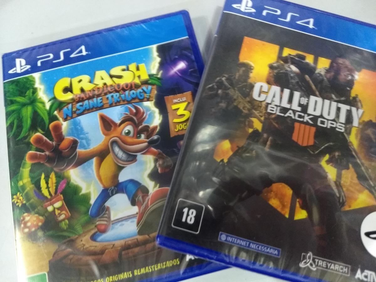 Call Of Duty Black Ops 4 Ps4 + Crash Ps4 Mídia Física