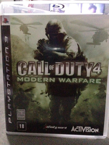 call of duty 4 modern warfare ps3 midia fisica usado