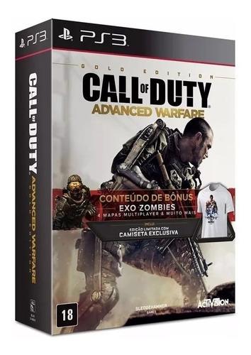 call of duty advanced warfare gold ed. ps3 lacrado br rj