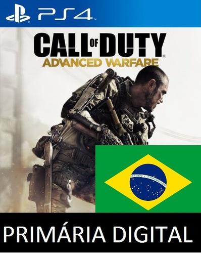 call of duty advanced warfare portugues ps4 psn 1 primária