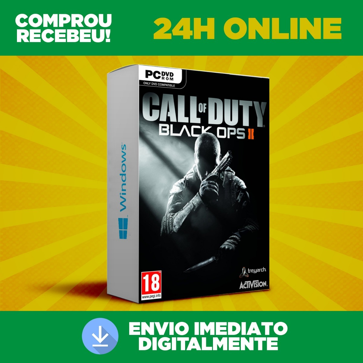 Call Of Duty Black Ops 2 - Pc + Dublagem Envio 0s