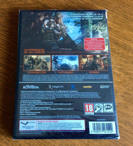 call of duty black ops 3 deluxe edition - pc dvd frete 8 r$