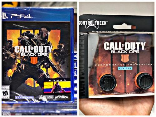 call of duty black ops 4 ps4 colombia + kontrolfreek + dlc