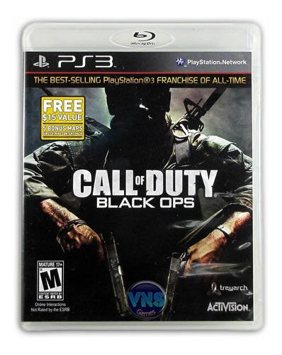 call of duty black ops - c/ 5 mapas bônus - novo - lacrado