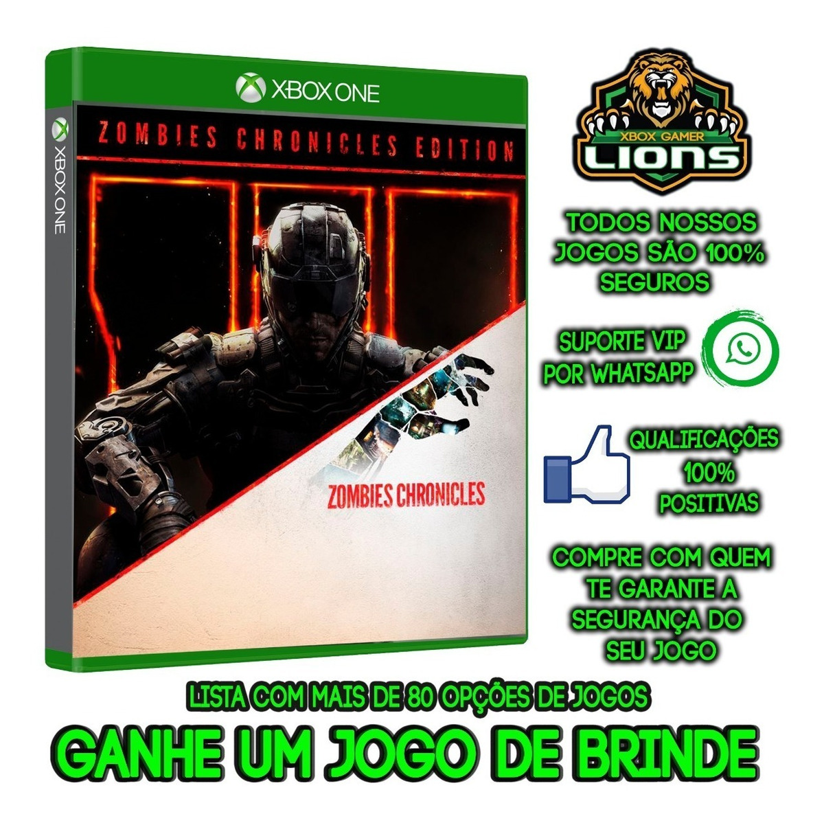 Call Of Duty Black Ops Iii - Z Xbox One Offline +brinde