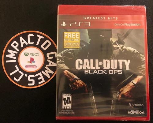 call of duty black ops playstation 3 (sellado) envíos gratis