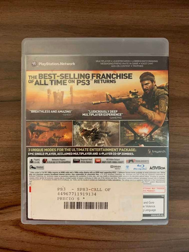 call of duty: black ops, ps3