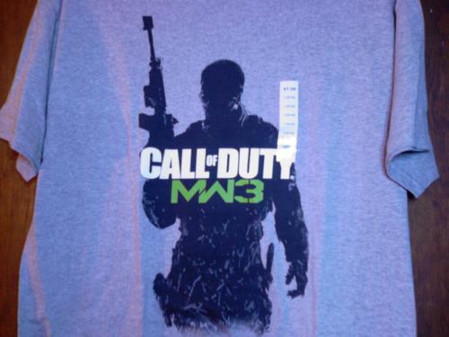 call of duty camiseta manga corta gris talla l